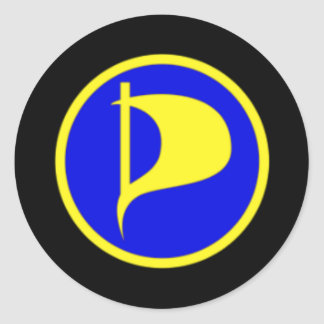 Deluxe Pirate Party Logo(see description) Classic Round Sticker