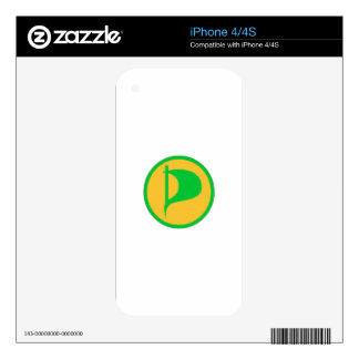 Deluxe Pirate Party Logo(see description) Decal For iPhone 4