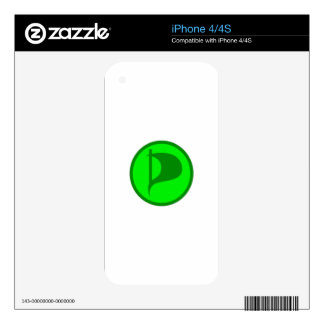 Deluxe Pirate Party Logo(see description) iPhone 4 Skins