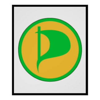 Deluxe Pirate Party Logo(see description) Poster
