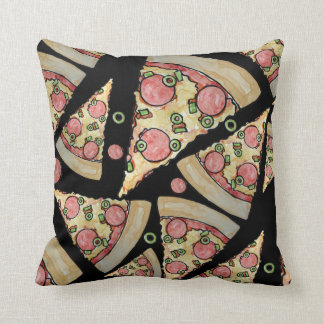 Deluxe Pizza party Throw Pillow