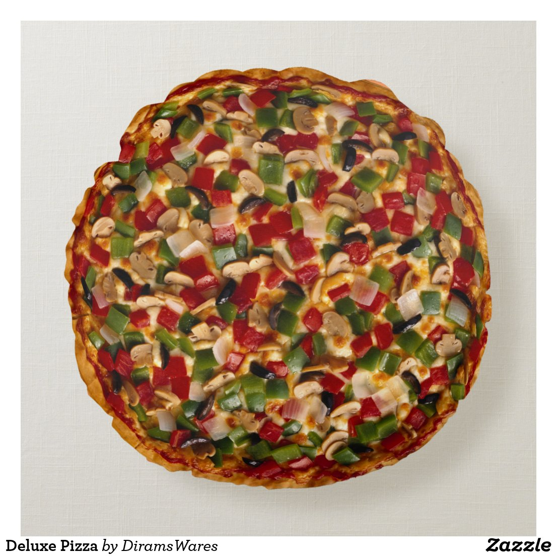 Deluxe Pizza Round Pillow