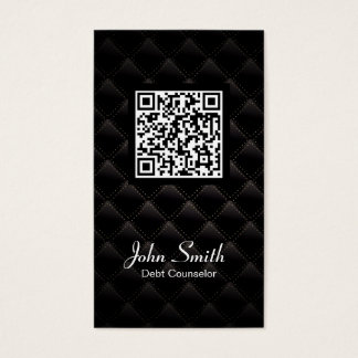 Deluxe QR Code Debt Counselor Business Card