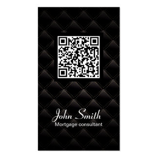 Deluxe QR Code Mortgage Agent Business Card