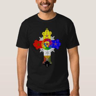 Deluxe Rose Cross Lamen T-Shirt Men (Black)