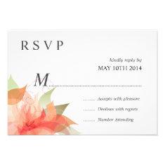Deluxe RSVP Orange Peach Floral Custom Invitation