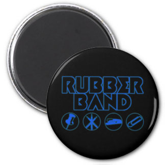 Deluxe Rubber Band Parody Logo 2 Inch Round Magnet