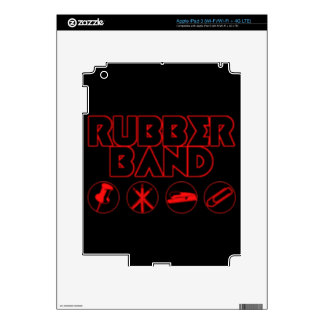 Deluxe Rubber Band Parody Logo Decals For iPad 3