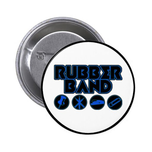 Deluxe Rubber Band Parody Logo Pin