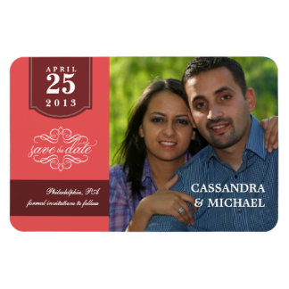 Deluxe Save the Date Custom Photo Wedding Magnets