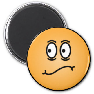 Deluxe Silly Smiley faces 2 Inch Round Magnet