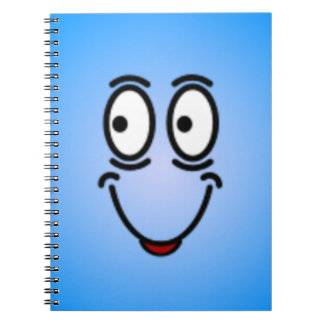 Deluxe Silly Smiley faces Spiral Note Book