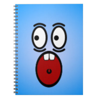 Deluxe Silly Smiley faces Spiral Notebook