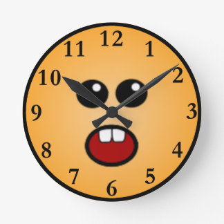 Silly Clocks Stunning Silly Smiley Faces Wall Clocks Zazzle Inspiration