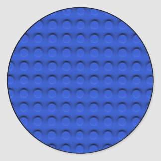 Deluxe Toy Brick Contruction Texture Classic Round Sticker