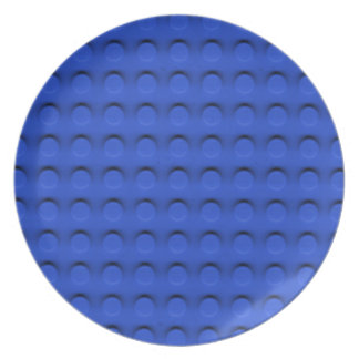 Deluxe Toy Brick Contruction Texture Melamine Plate