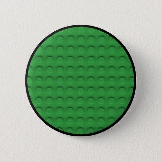 Deluxe Toy Brick Contruction Texture Pinback Button