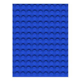 Deluxe Toy Brick Contruction Texture Postcard