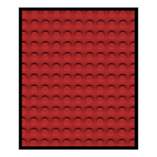 Deluxe Toy Brick Contruction Texture Poster