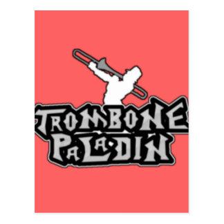 Deluxe Trombone Paladin Logo Postcard