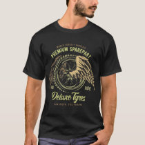 Deluxe Tyres Vintage Style Muscle Car T-Shirt