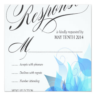 Deluxe Wedding RSVP for Large Invitations