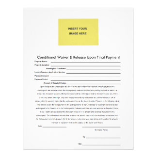 Deluxeforms Conditional Waiver Release Upon Final Letterhead