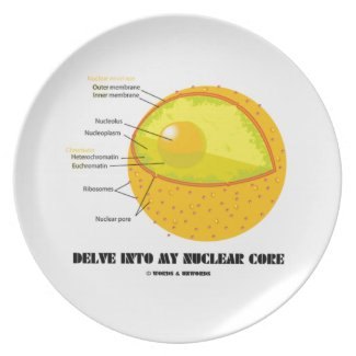 Delve Into My Nuclear Core (Cell Nucleus Attitude) Plates