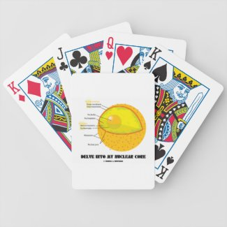 Delve Into My Nuclear Core (Cell Nucleus Attitude) Deck Of Cards