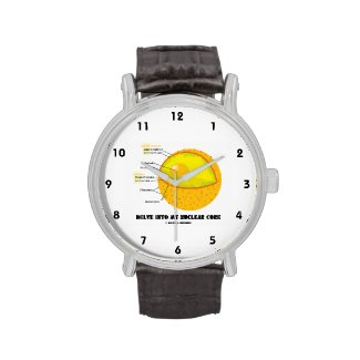 Delve Into My Nuclear Core (Cell Nucleus Attitude) Wristwatch