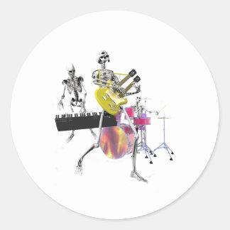 Dem Bones Band Classic Round Sticker