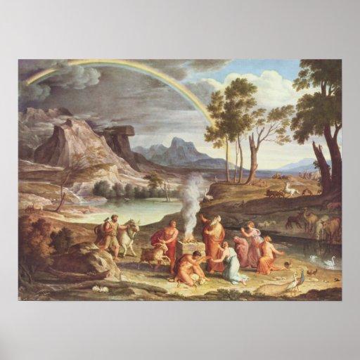 Dem Dankopfer Noahs, 1809 del mit de Koch - de Lan Impresiones