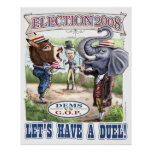 Dem Donkey vs GOP Elephant Print