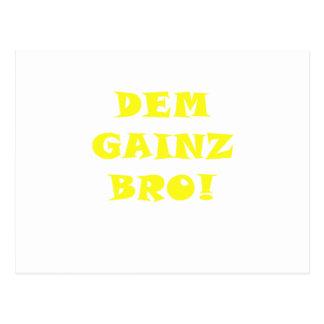 Dem Gainz Bro Post Cards