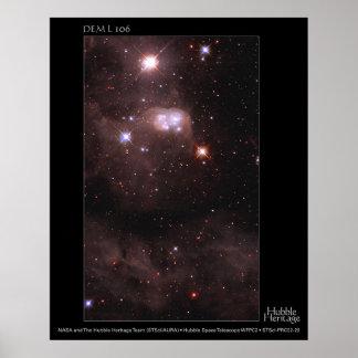 DEM L 106 telescopio de la nube de Magellanic de H Póster