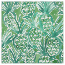 DEM PINEAPPLES Tropical Watercolor Pattern Fabric