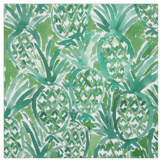 DEM PINEAPPLES Tropical Watercolor Pattern Fabric