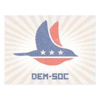 DEM-SOC POSTCARD