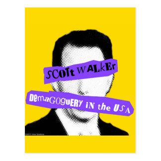 Demagogia del caminante de Scott en los E.E.U.U. Tarjeta Postal