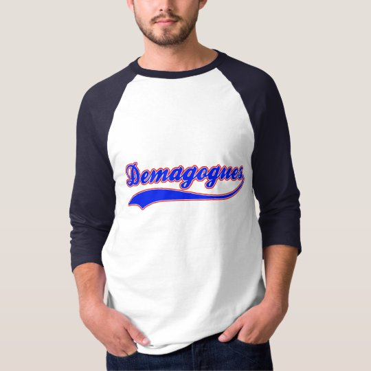 Demagogues Faux Baseball Jersey T-Shirt