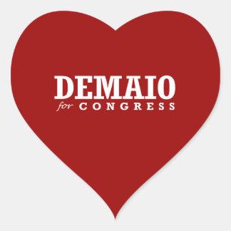 DEMAIO FOR CONGRESS 2014 HEART STICKER