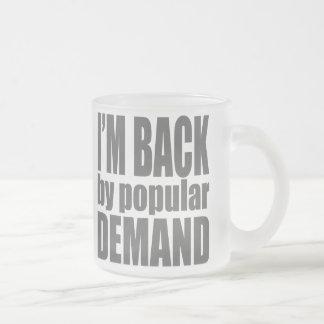 Demand2 Frosted Glass Coffee Mug