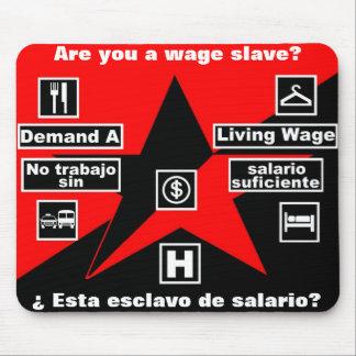 demand a living wage mousepad