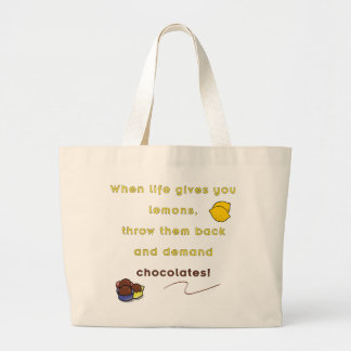 Demand Chocolate Canvas Bags