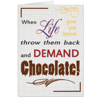 Demand Chocolate Cards