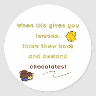 Demand Chocolate Classic Round Sticker