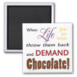 Demand Chocolate Fridge Magnet