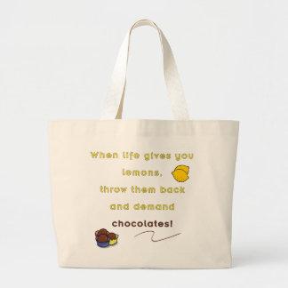 Demand Chocolate Large Tote Bag
