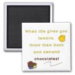 Demand Chocolate Refrigerator Magnets