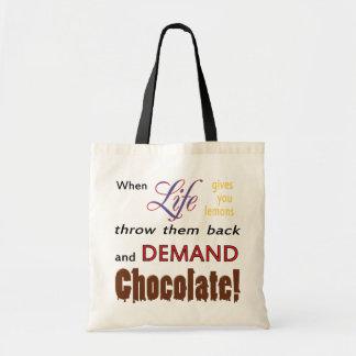 Demand Chocolate Tote Bag